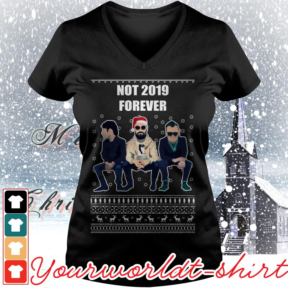 The Courteeners not 2019 forever ugly Christmas V-neck t-shirt