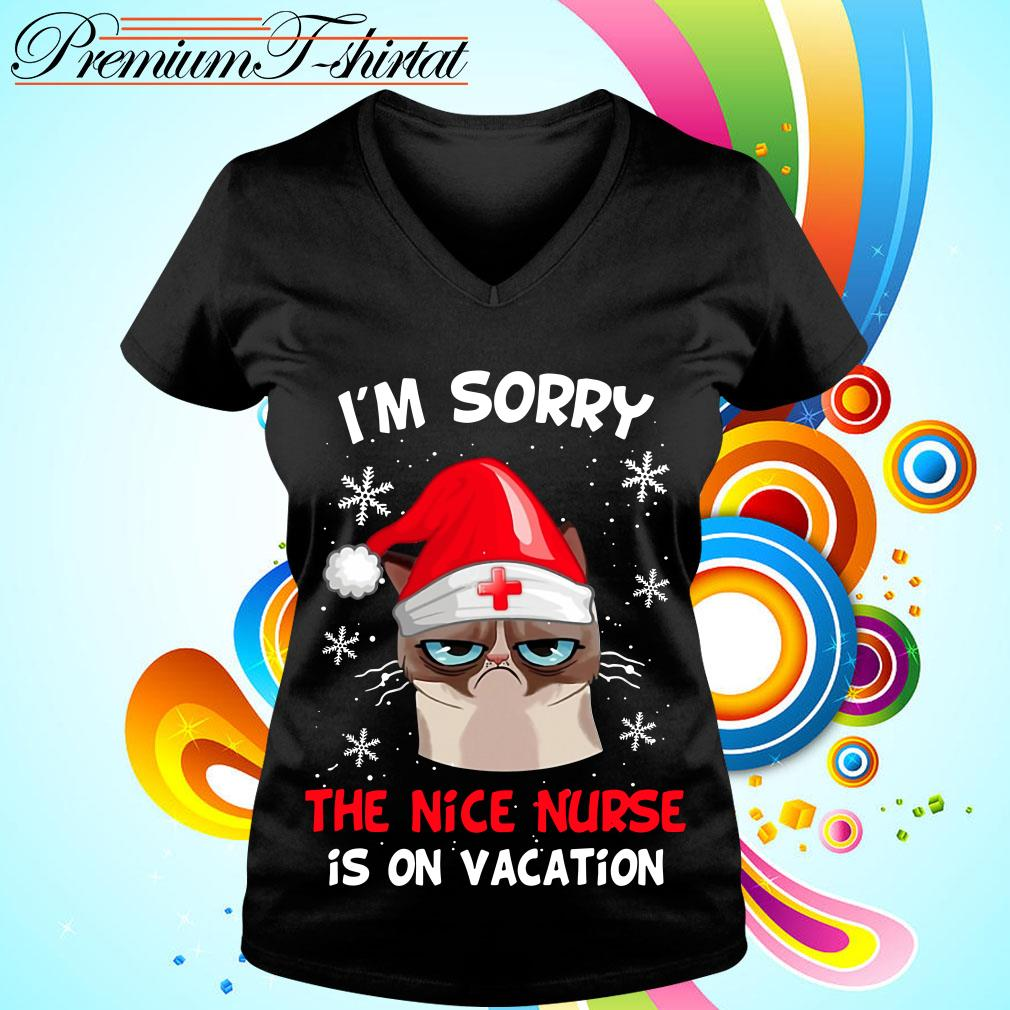 Grumpy cat I'm sorry the nice nurse is on vacation T-shirt and hoodie