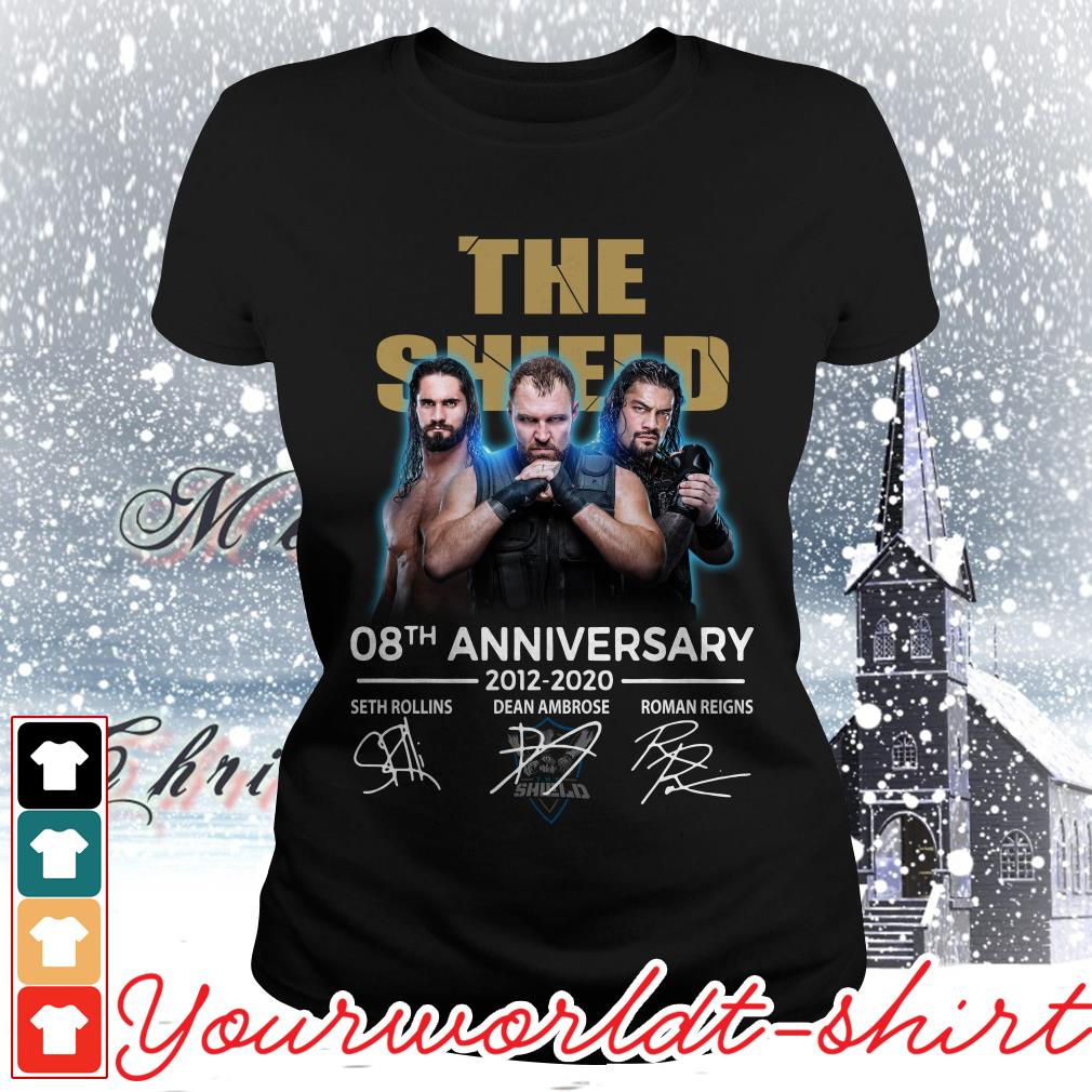 The Shield 08th anniversary 2012-2020 signatures Ladies tee