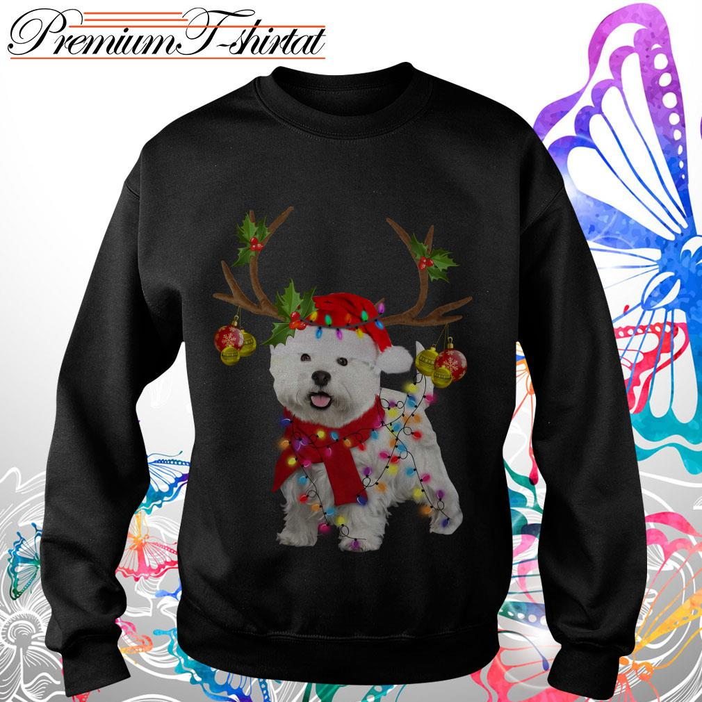 Westie gorgeous reindeer Christmas shirt