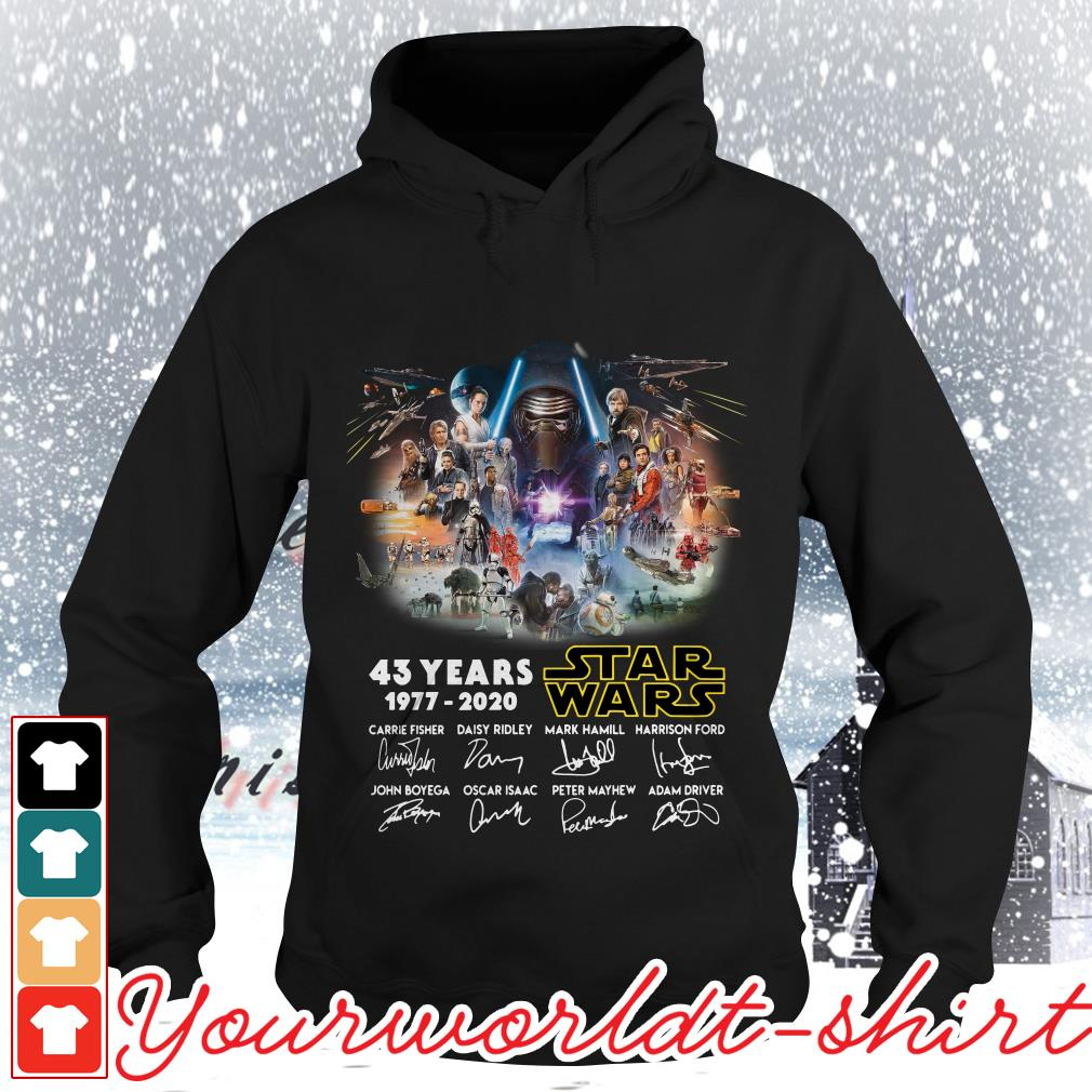 43 years Star Wars 1977-2020 signatures Hoodie