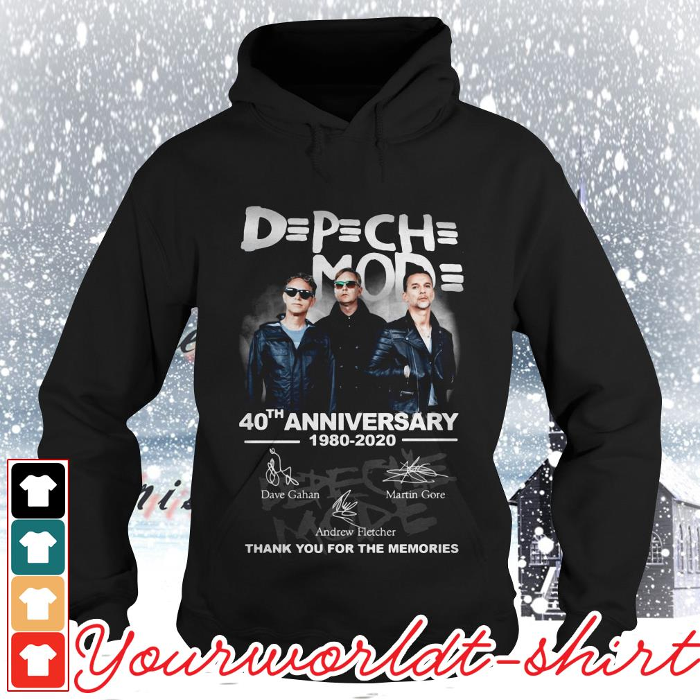 Official Depeche Mode 40th anniversary 1980-2020 thank you for the memories Hoodie