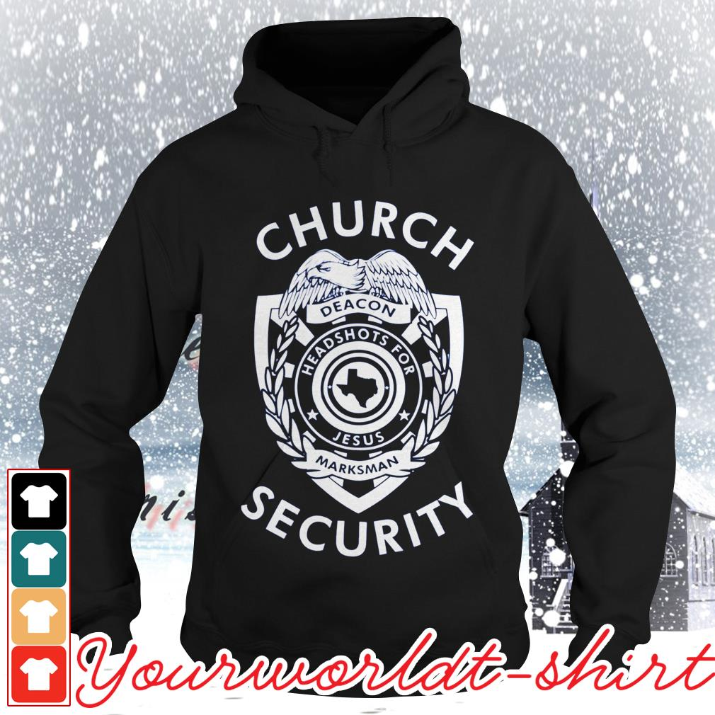 Church security deacon headshots for Jesus marksman Hoodie