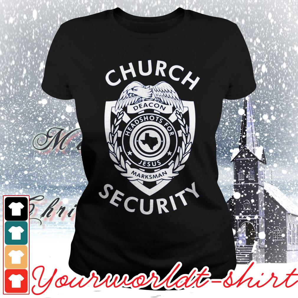 Church security deacon headshots for Jesus marksman ladies tee