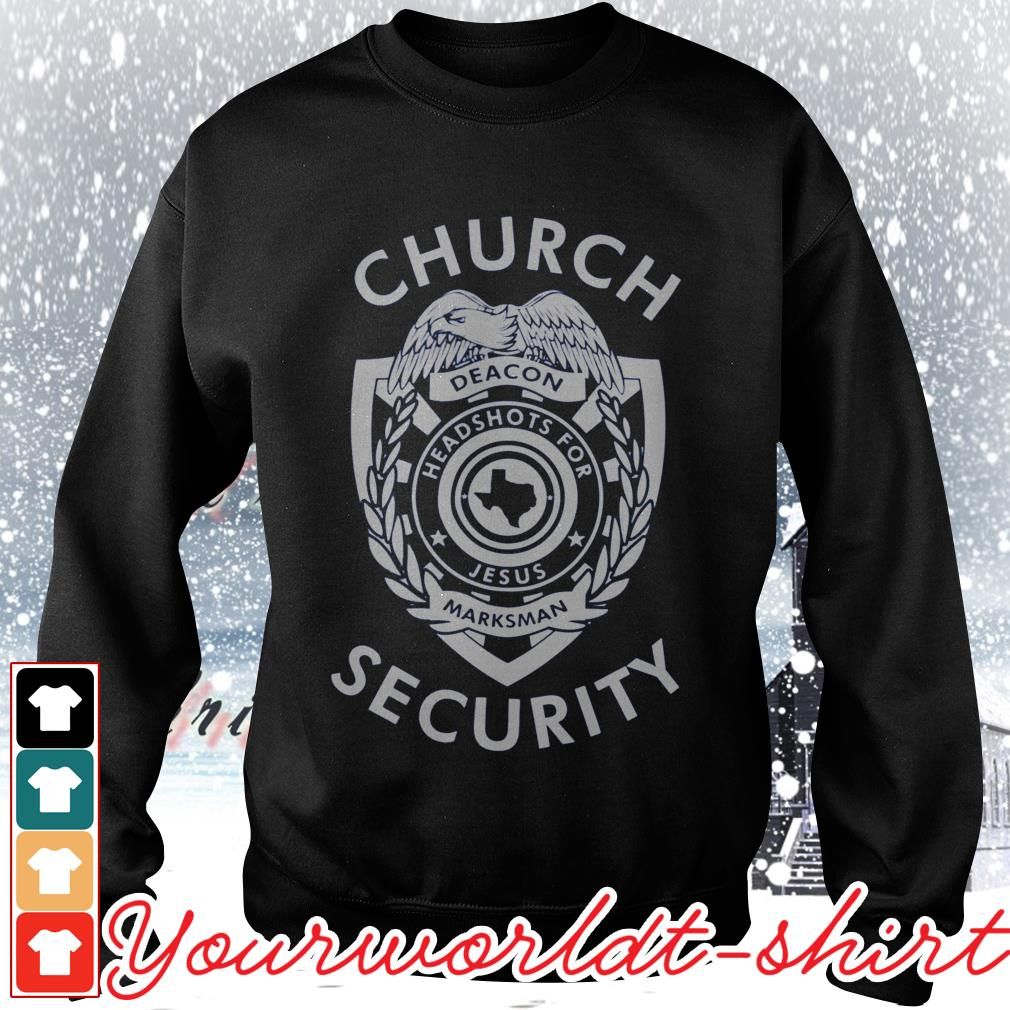 Church security deacon headshots for Jesus marksman Sweater