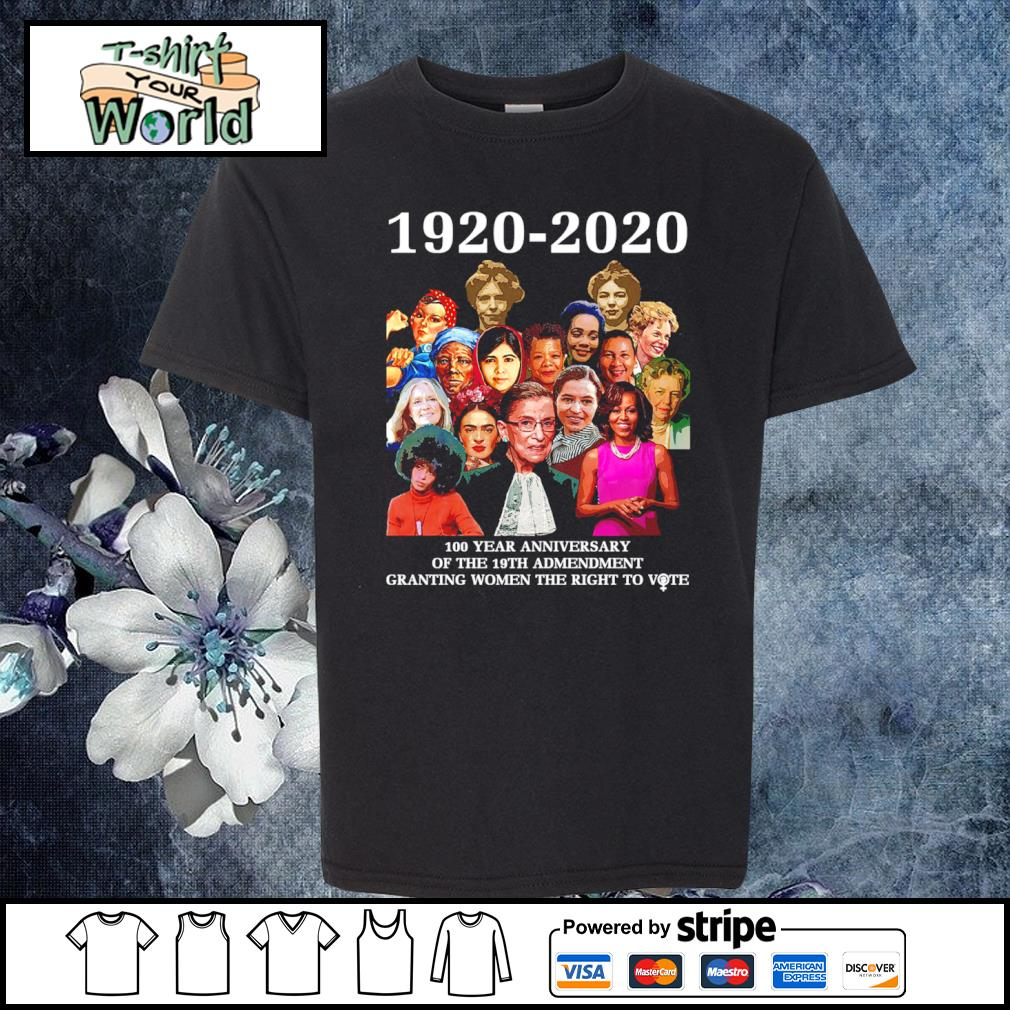 1920 2020 100 year anniversary of the 19th amendment granting women the right to vote s youth-tee