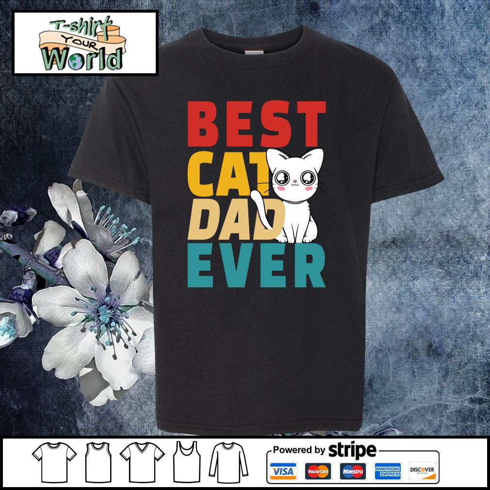 Best cat dad ever s youth-tee