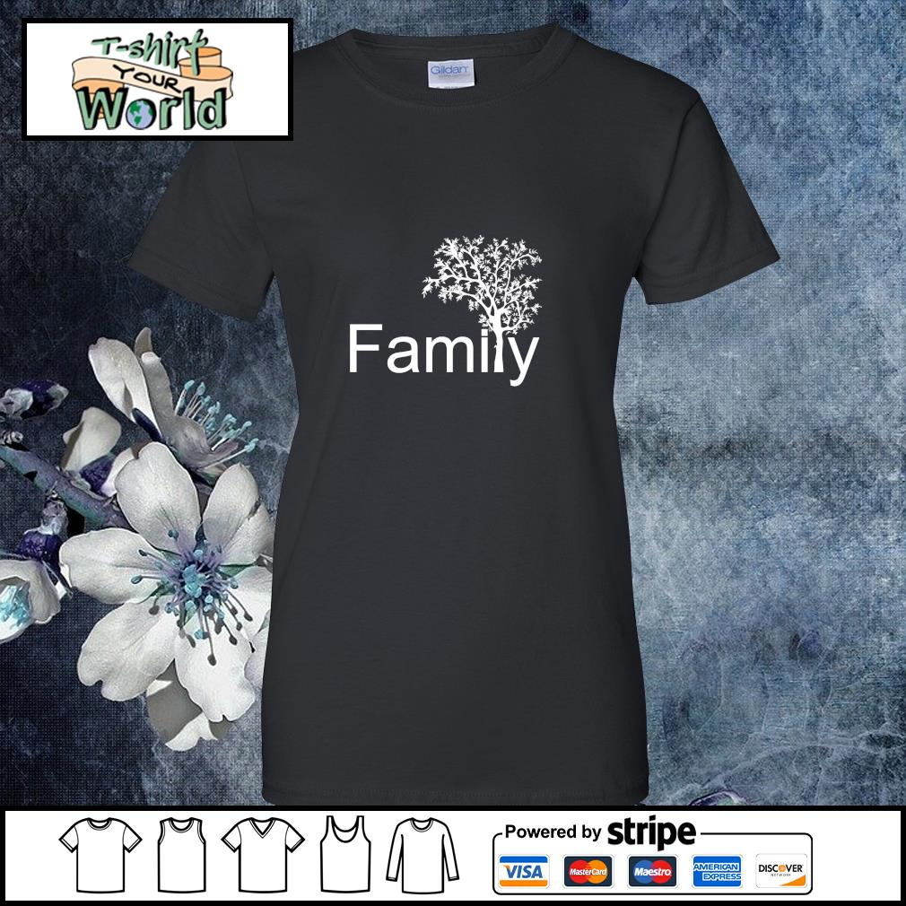 Family tree genealogy s ladies-tee