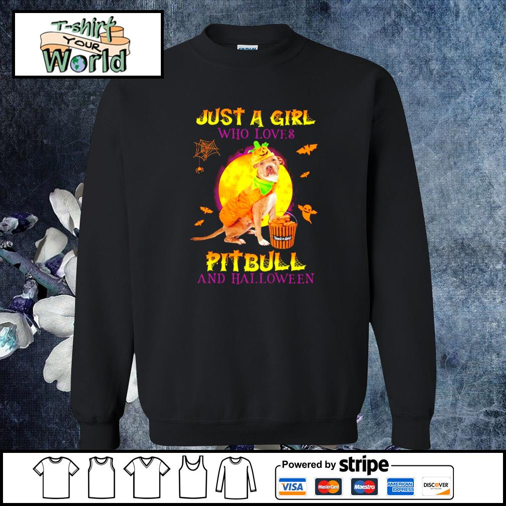 Just a girl who loves pitbull and halloween s sweater