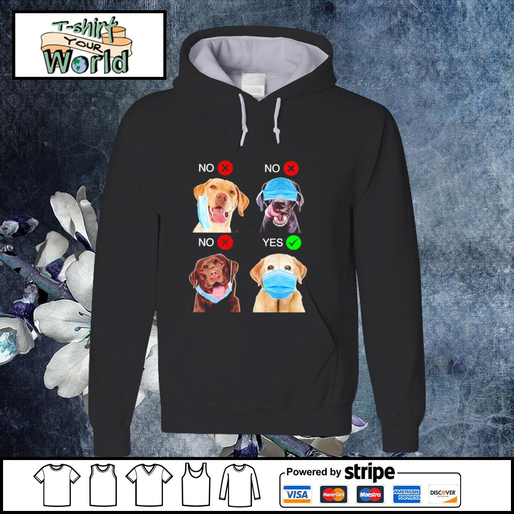 Labrador Retriever right wear the mask s hoodie