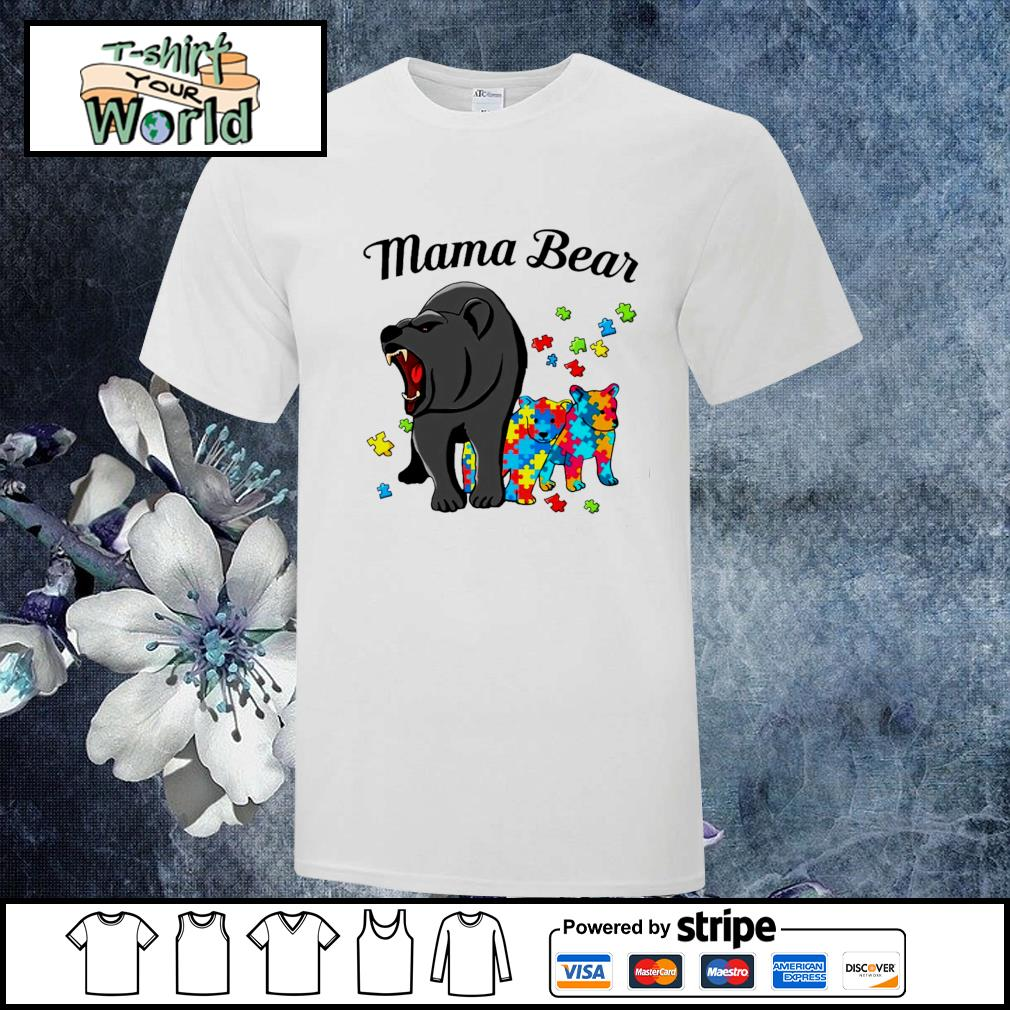 Mama bear protect child autism shirt
