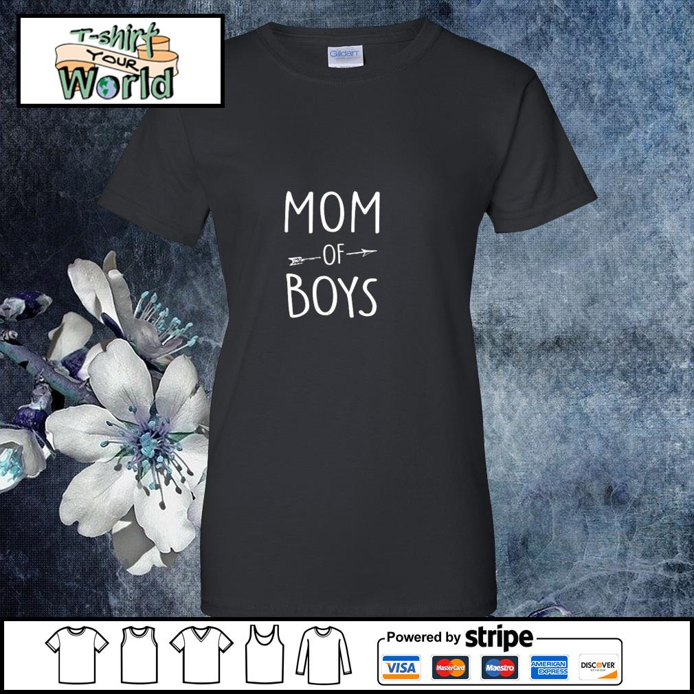 Mom of boys s ladies-tee