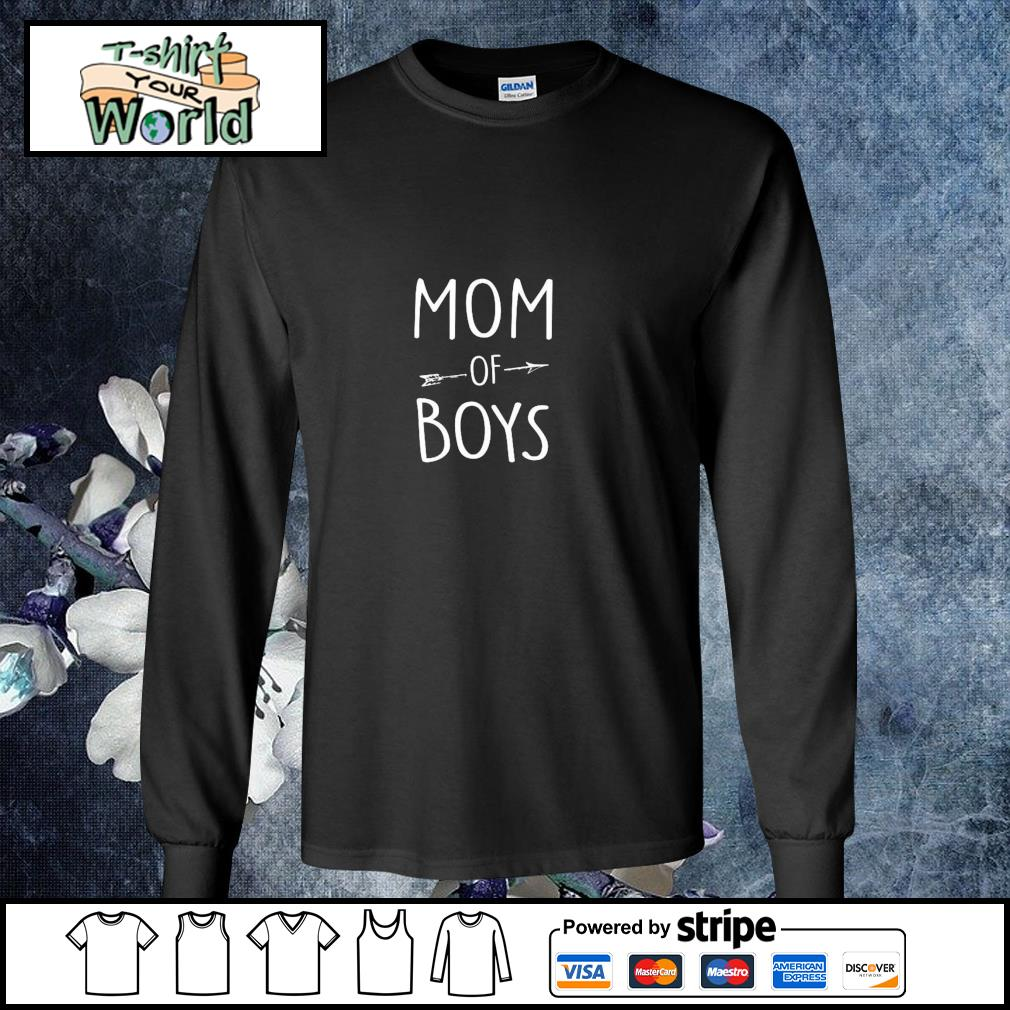 Mom of boys s longsleeve-tee