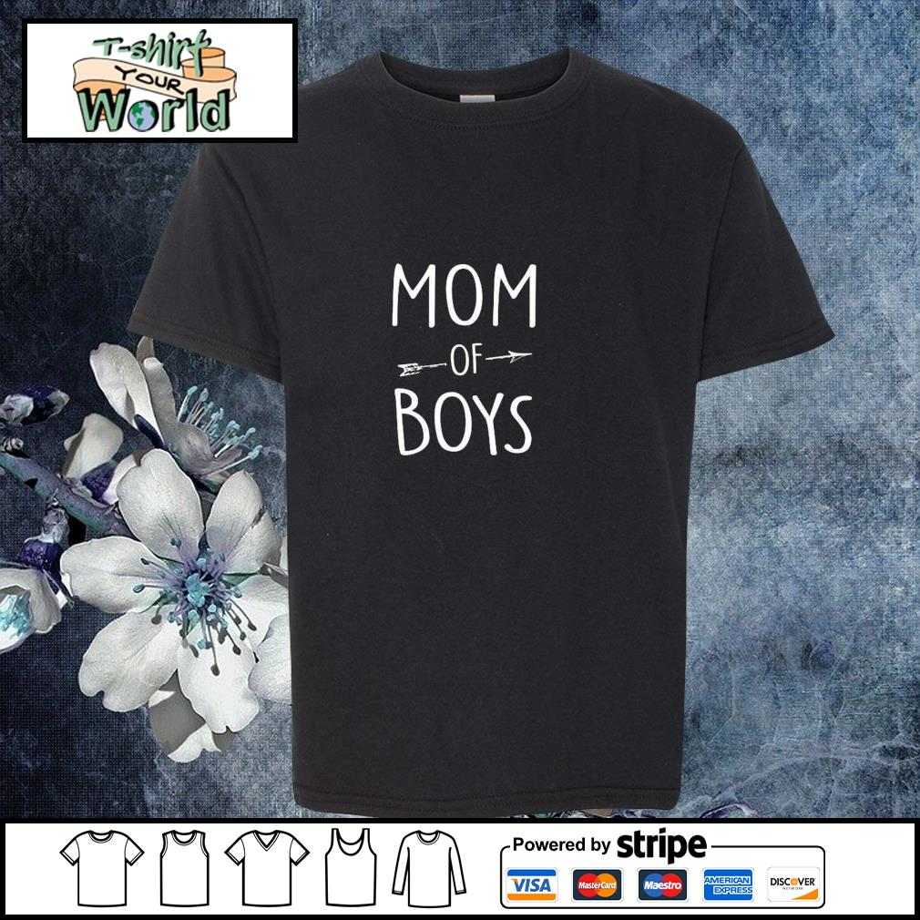 Mom of boys s youth-tee
