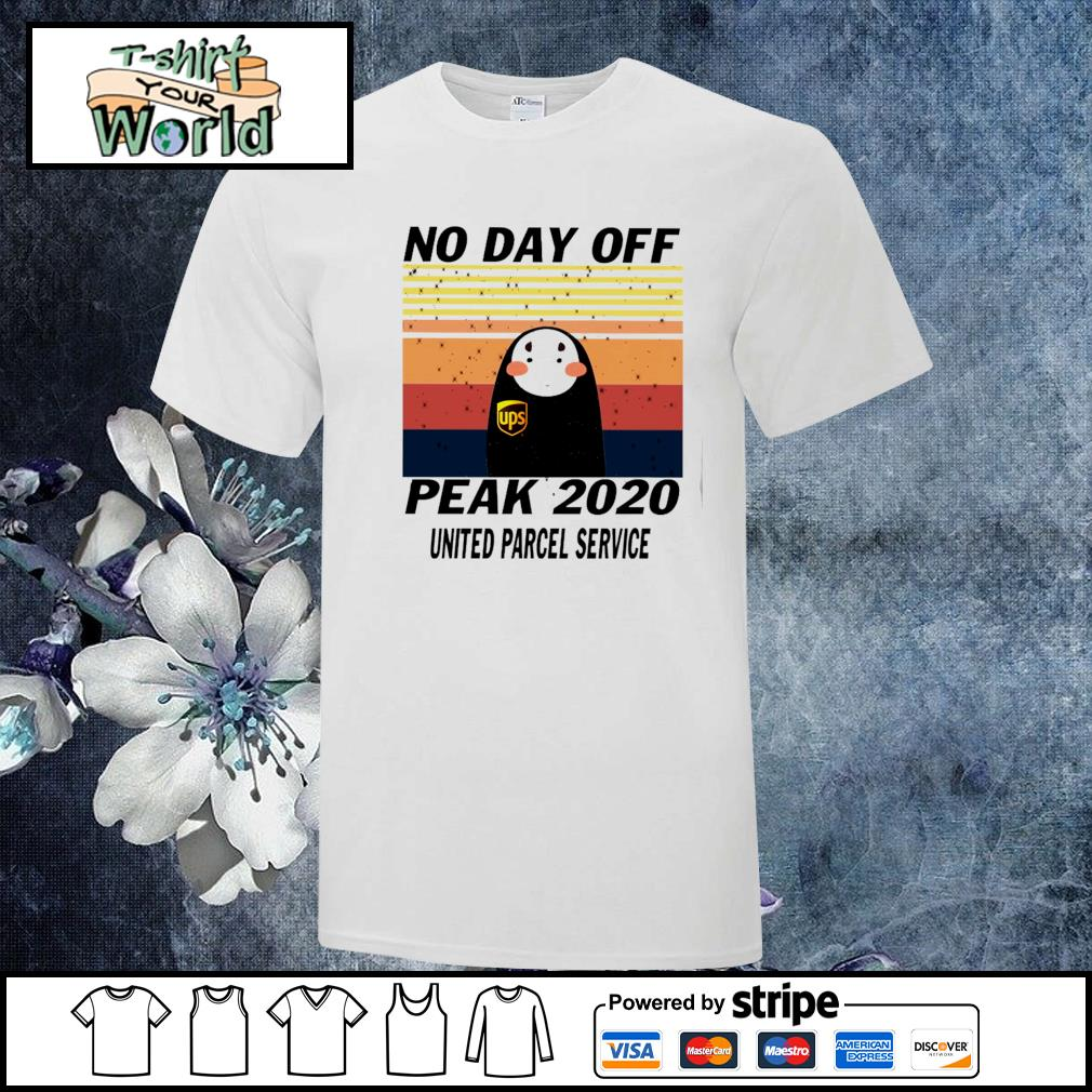 No-face no day off peak 2020 united parcel service vintage shirt