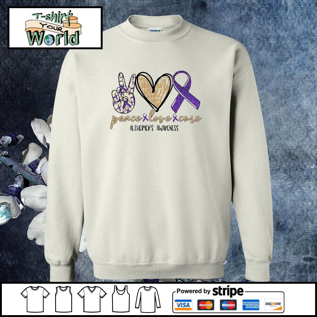 Peace love cure alzheimer's awareness s sweater