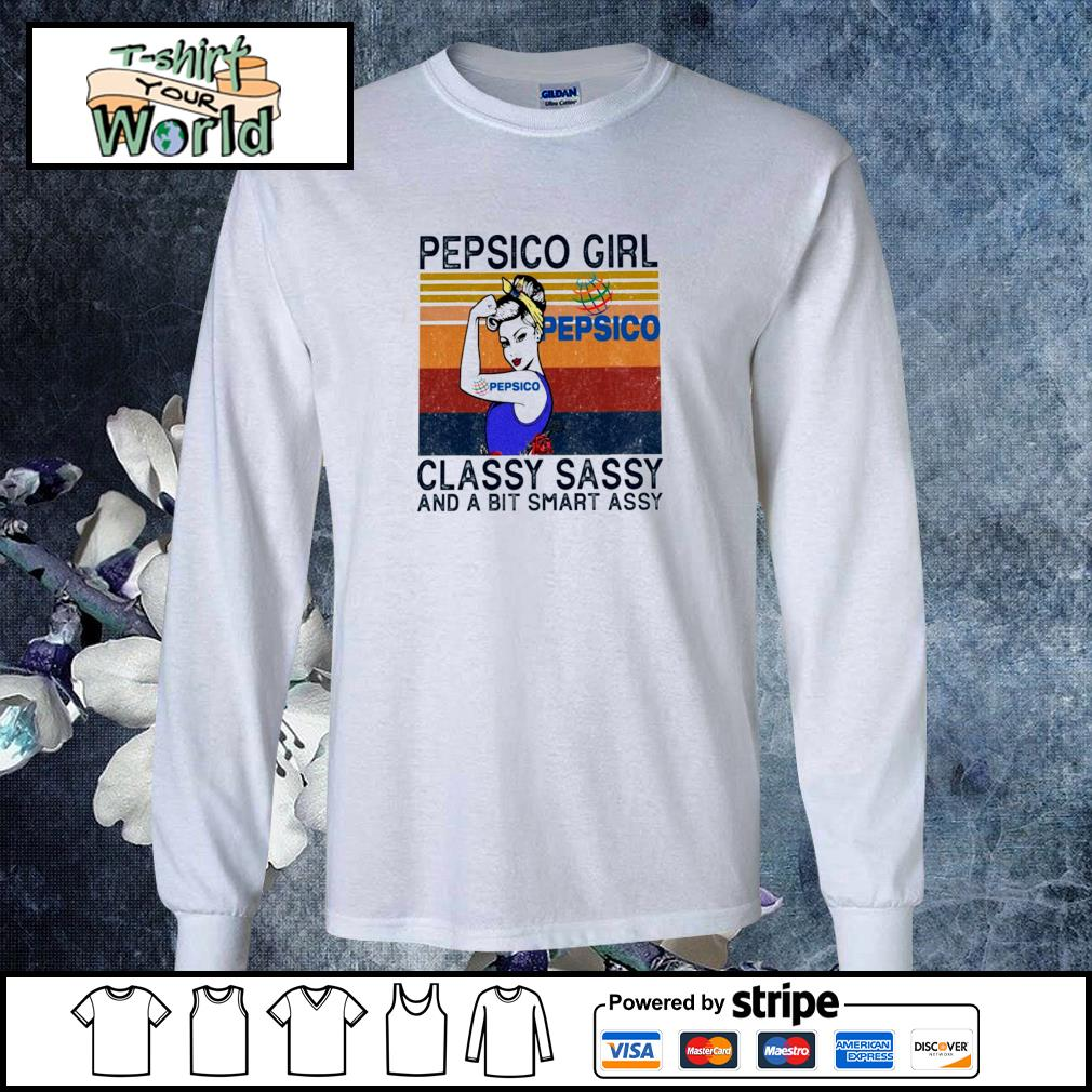 Pepsico girl classy sassy and a bit smart assy vintage s longsleeve-tee