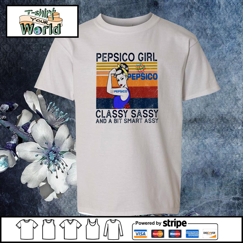 Pepsico girl classy sassy and a bit smart assy vintage s youth-tee