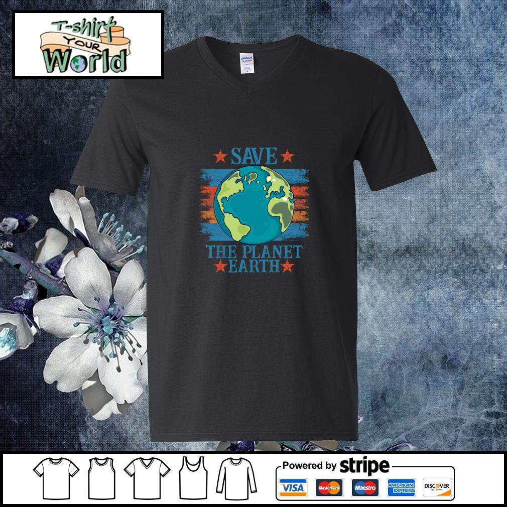 Save the planet earth s v-neck-t-shirt
