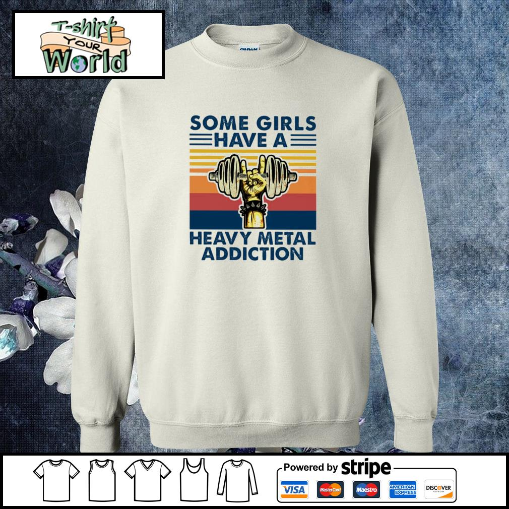 Some girls have a heavy metal addiction vintage s sweater