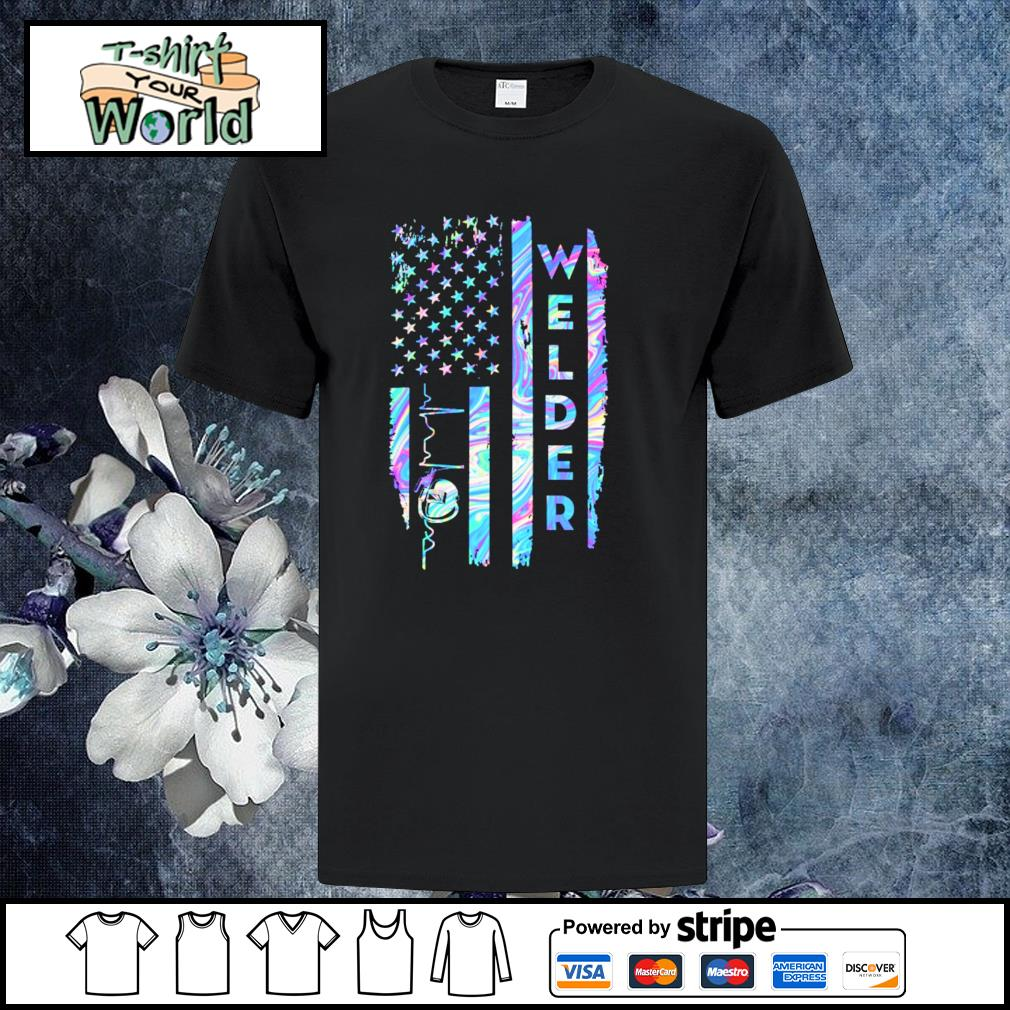Welder american flag shirt