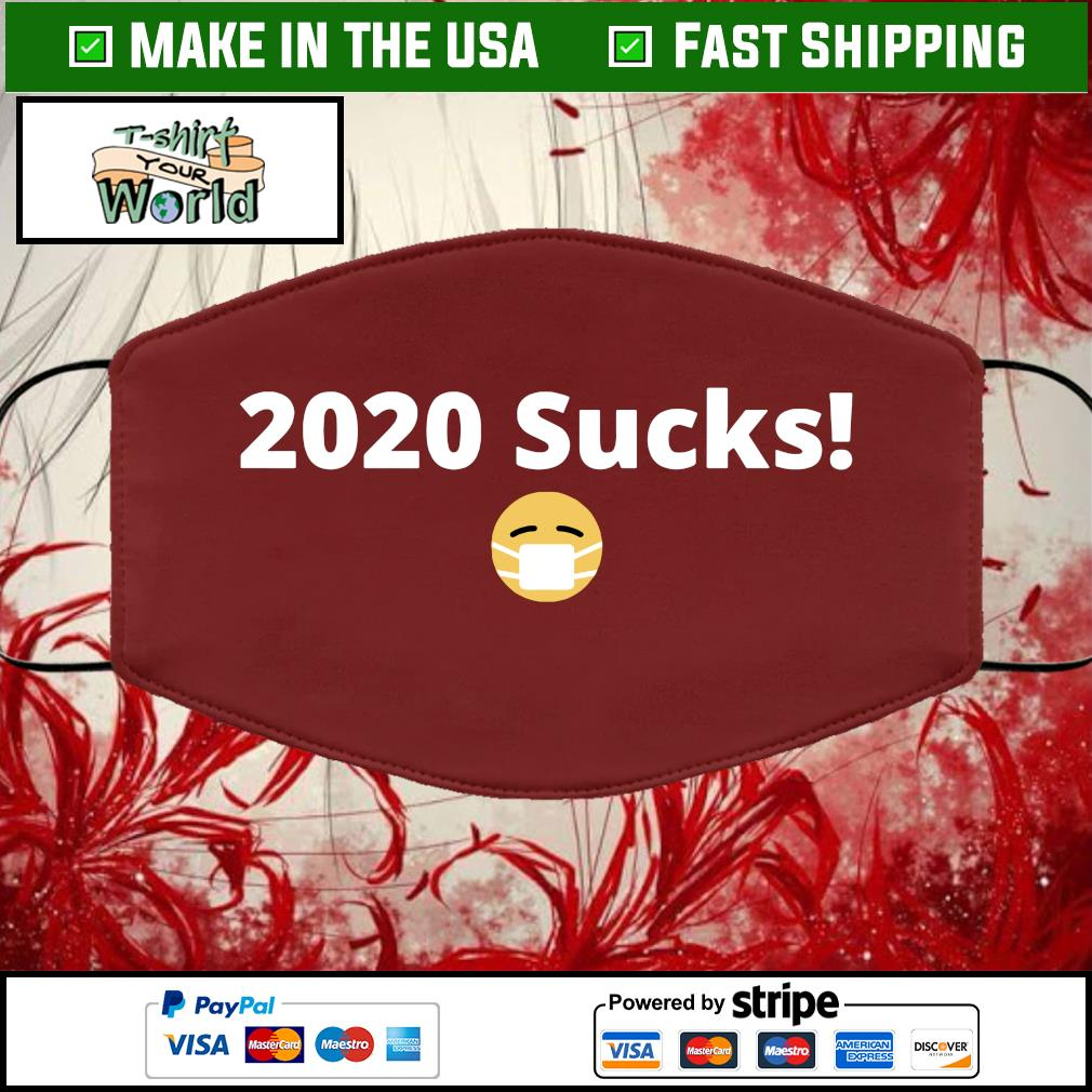 2020 sucks Face Mask Washable brown