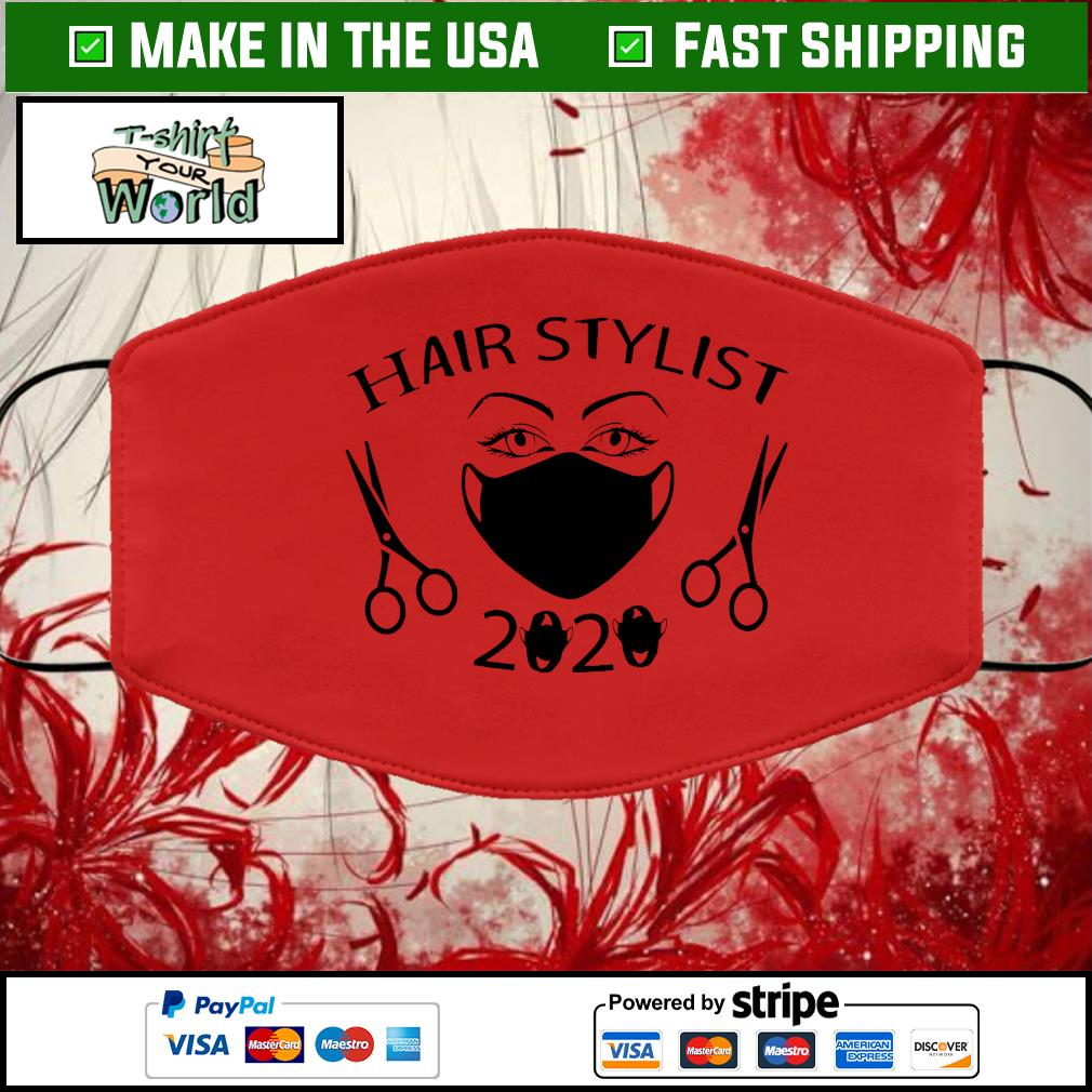 Hair Stylist 2020 Black Cloth Face Mask Washable red
