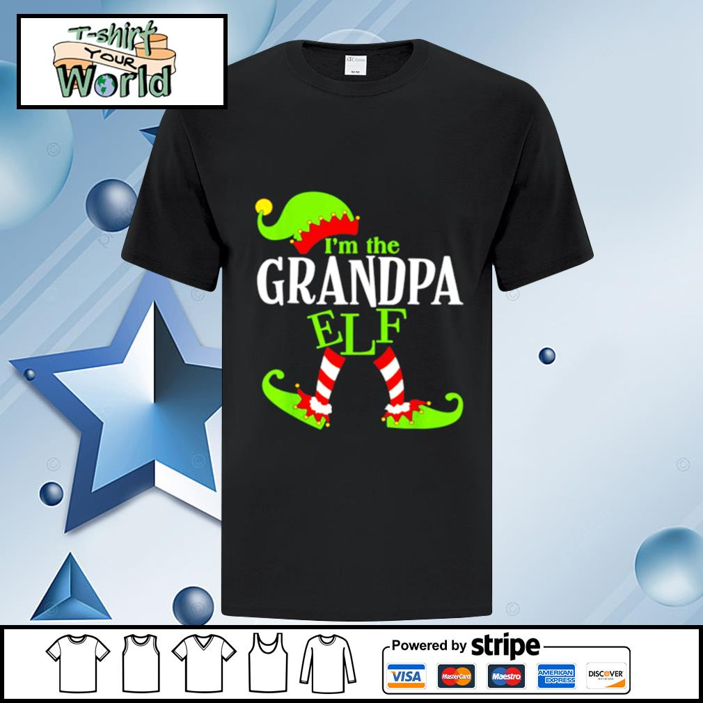 Im The GRANDPA Elf Family Group Matching PJ Christmas shirt
