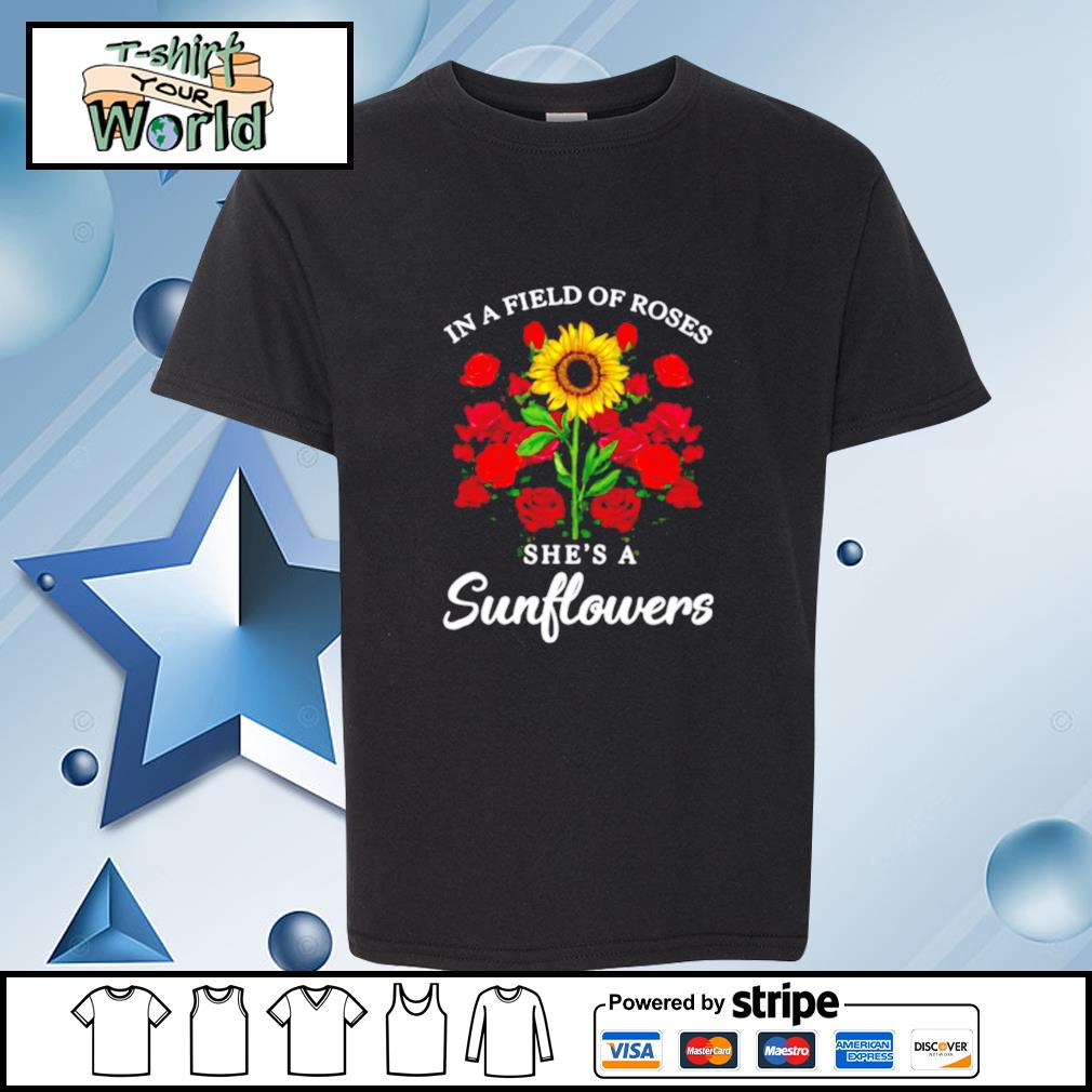 Jack Skellington In Field Of Roses She's A Sunflowers s youth-tee