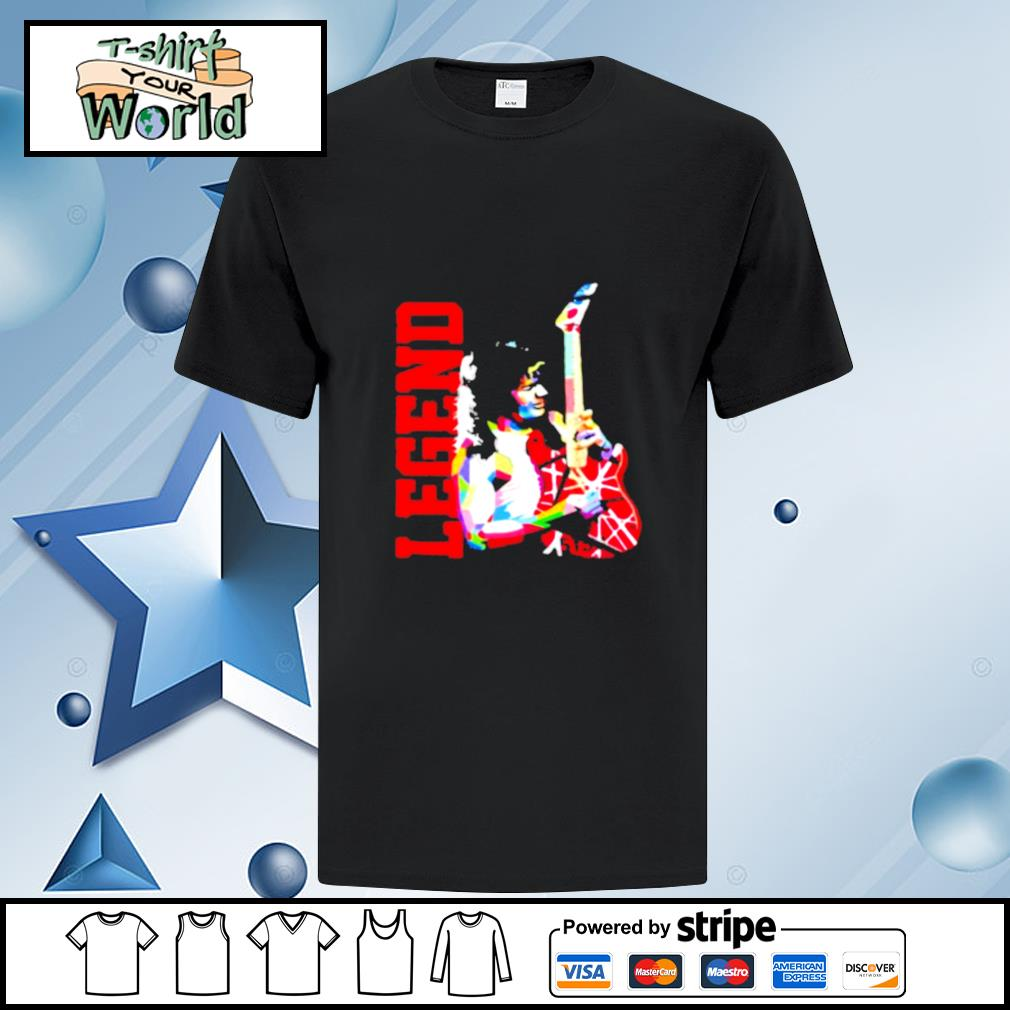 Legend eddie van halen playing guitar shirt