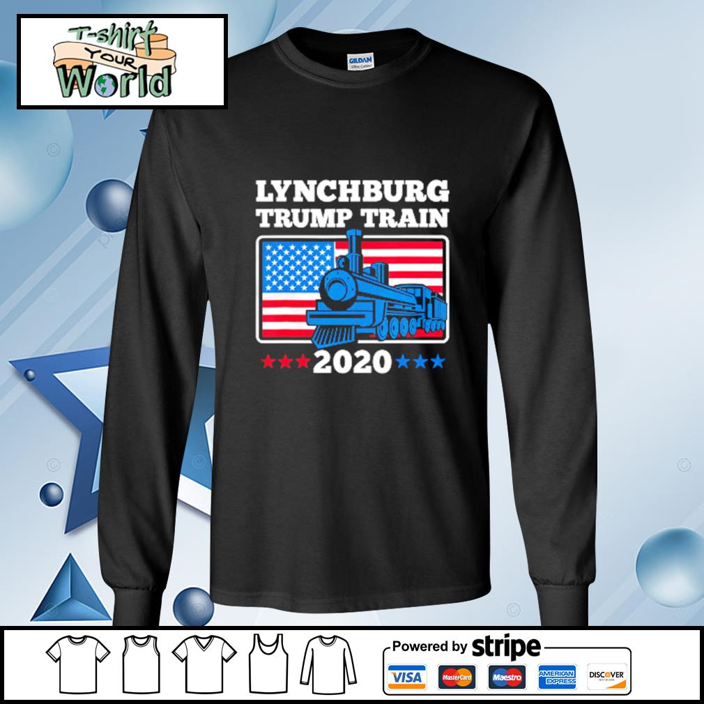 Lynchburg Trump Train 2020 American flag s longsleeve-tee