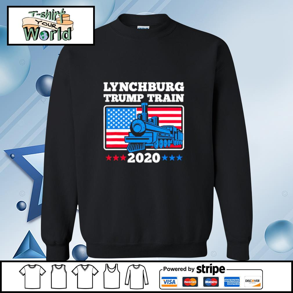 Lynchburg Trump Train 2020 American flag s sweater