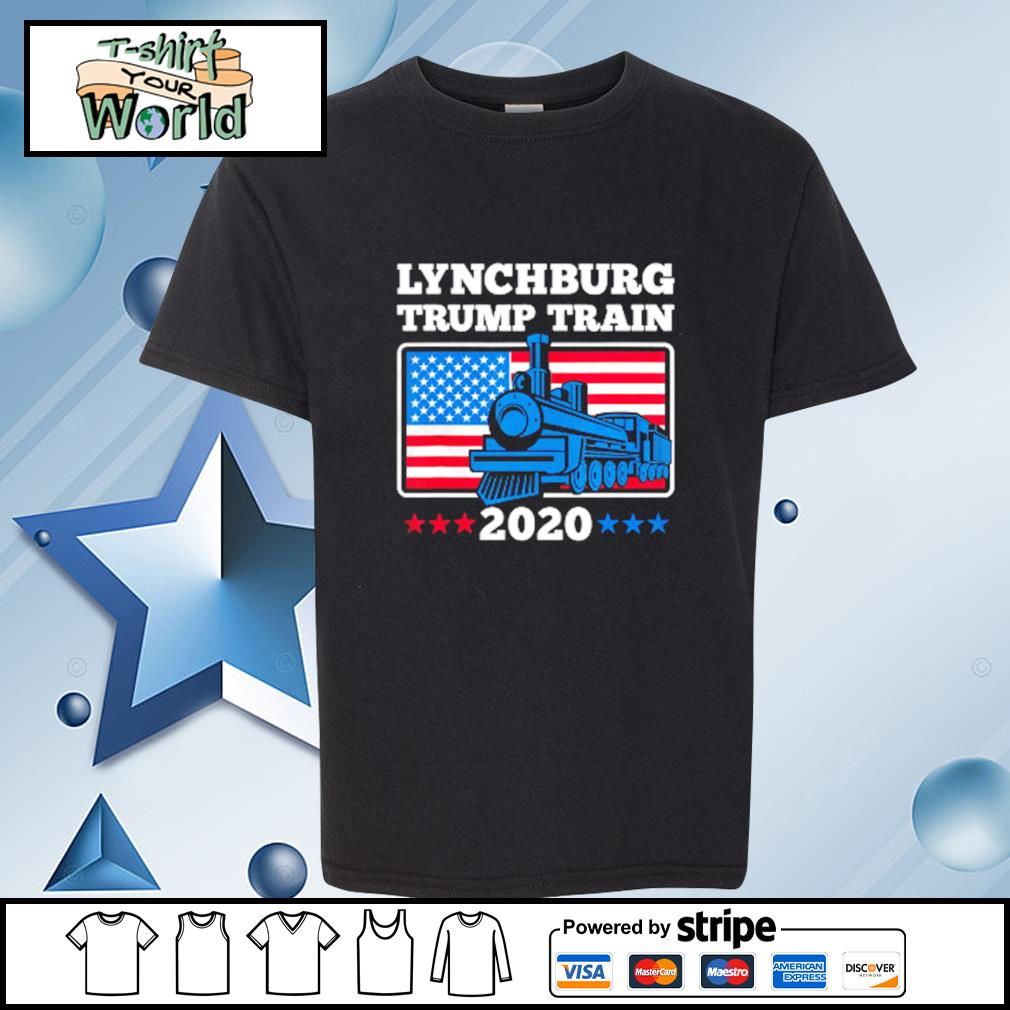 Lynchburg Trump Train 2020 American flag s youth-tee