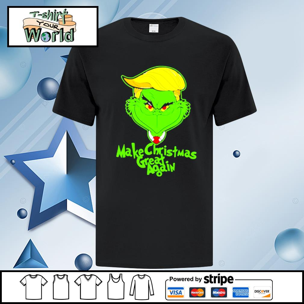 Trump grinch make christmas great again shirt