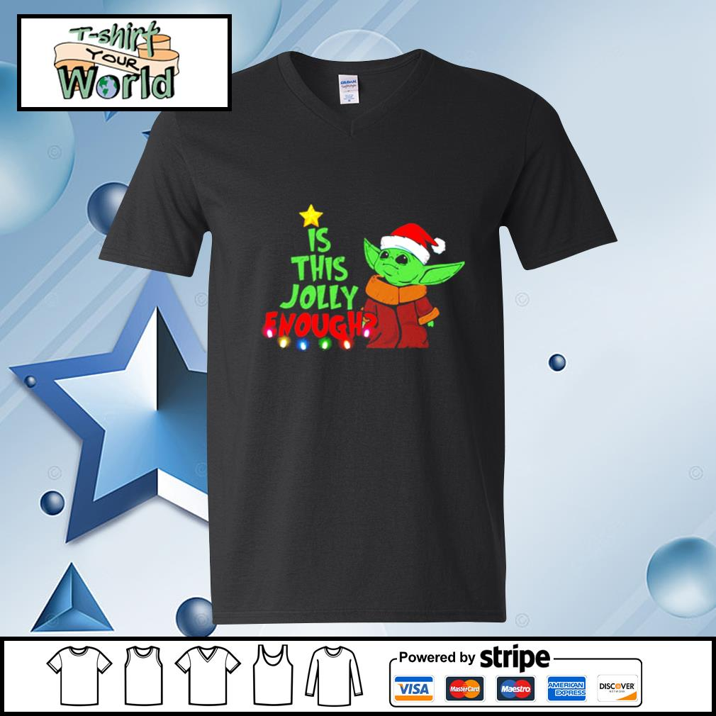 Baby Yoda Is This Jolly Enough Christmas s v-neck-t-shirt