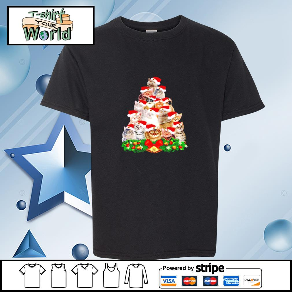 Cats And Christmas Tree s youth-tee