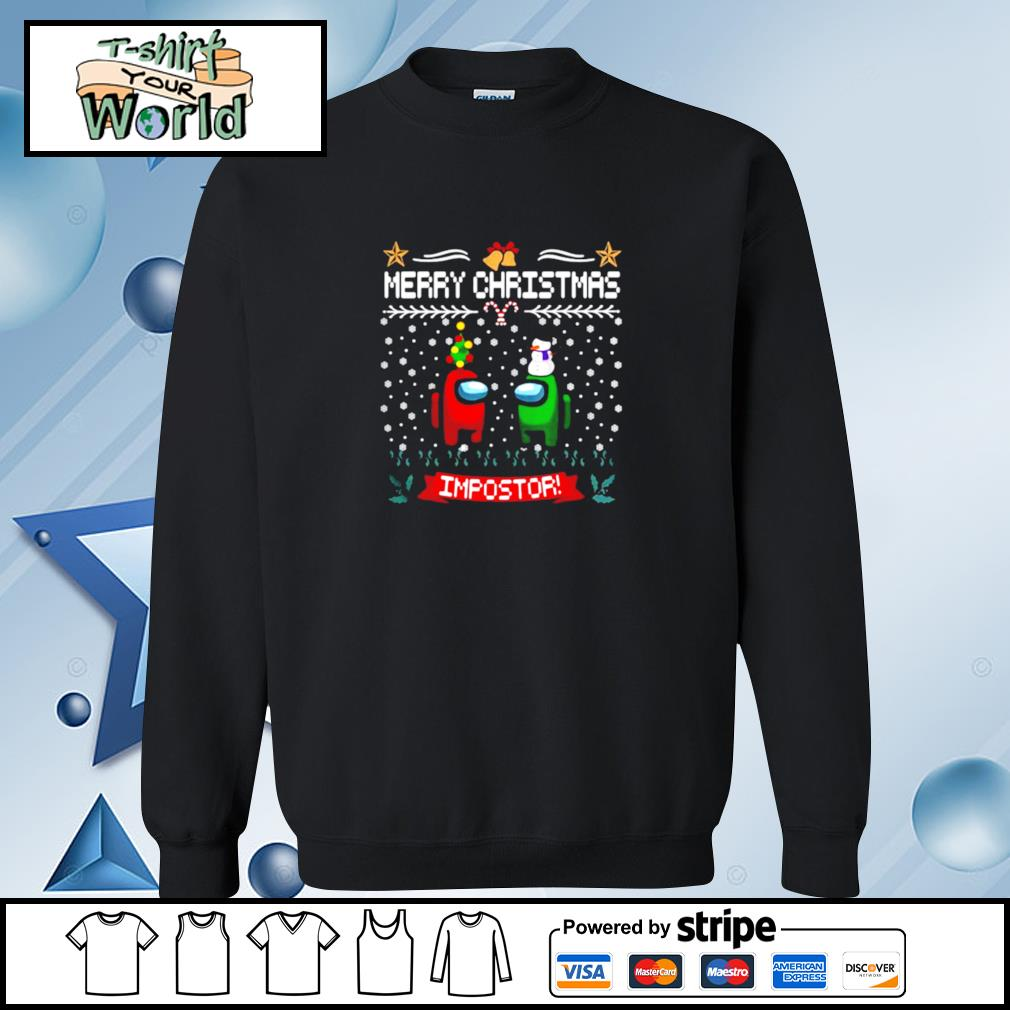 Impostor Imposter Among Game Us Sus Merry Christmas s sweater
