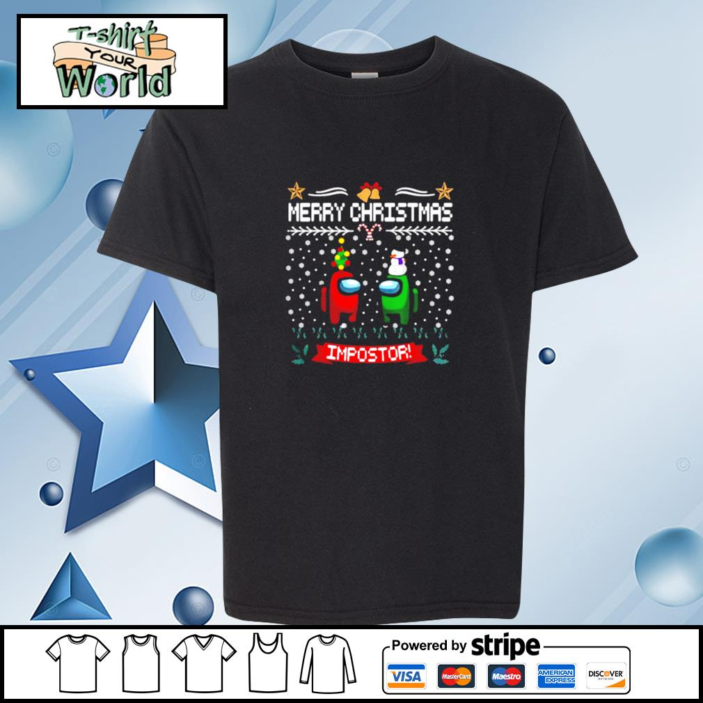 Impostor Imposter Among Game Us Sus Merry Christmas s youth-tee