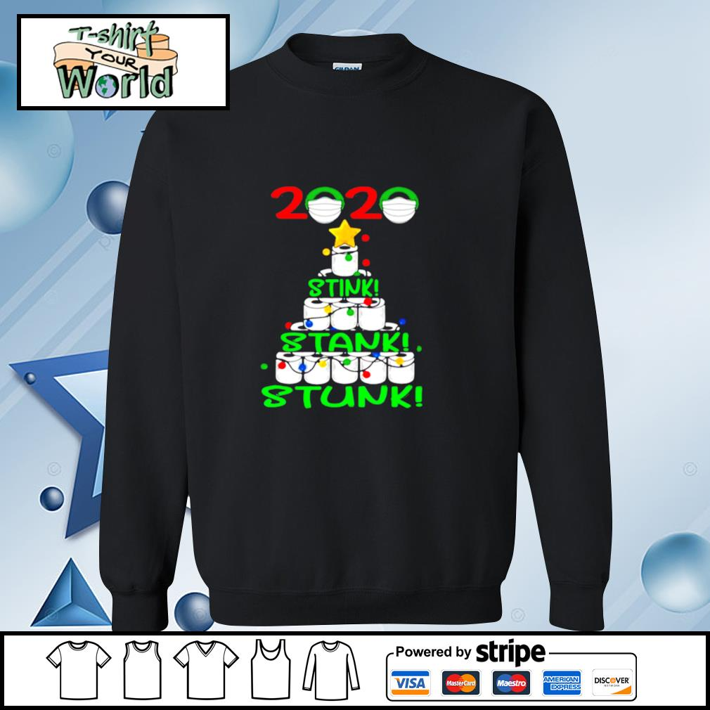 2020 Stink Stank Stunk Funny Quarantine Ugly Christmas Tree s sweater