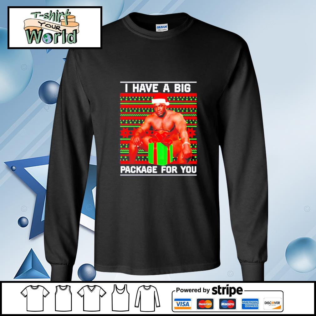 Barry Wood I have a big package for you Christmas s longsleeve-tee