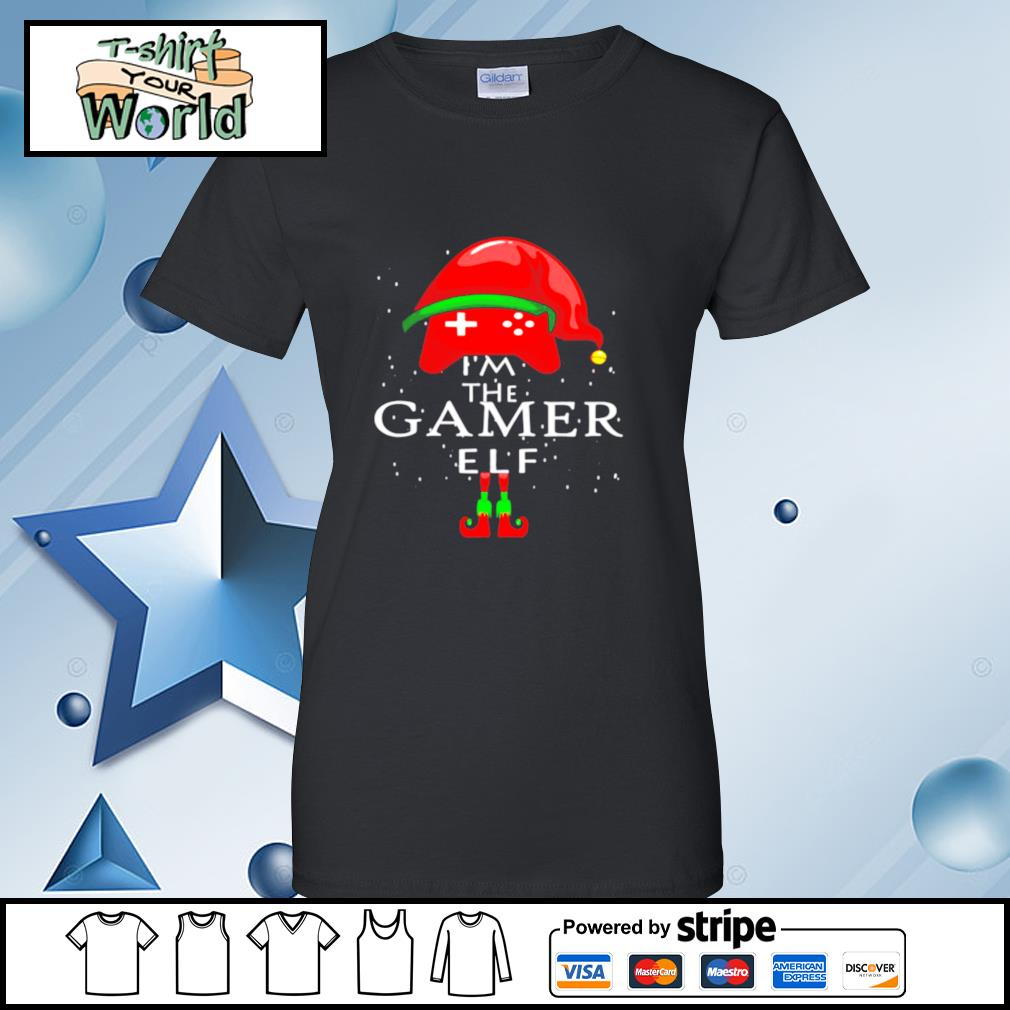 Im A Gamer Elf Matching Family Group Christmas s ladies tee