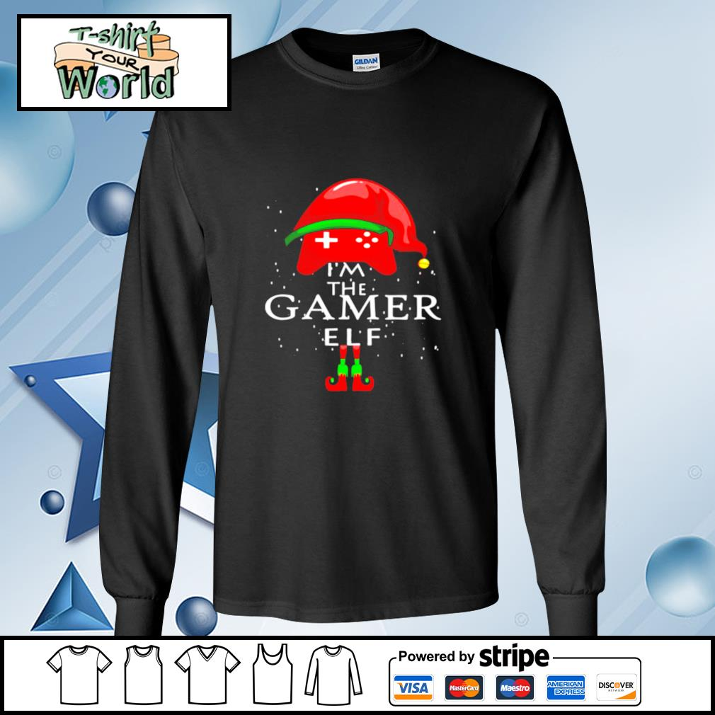 Im A Gamer Elf Matching Family Group Christmas s longsleeve-tee