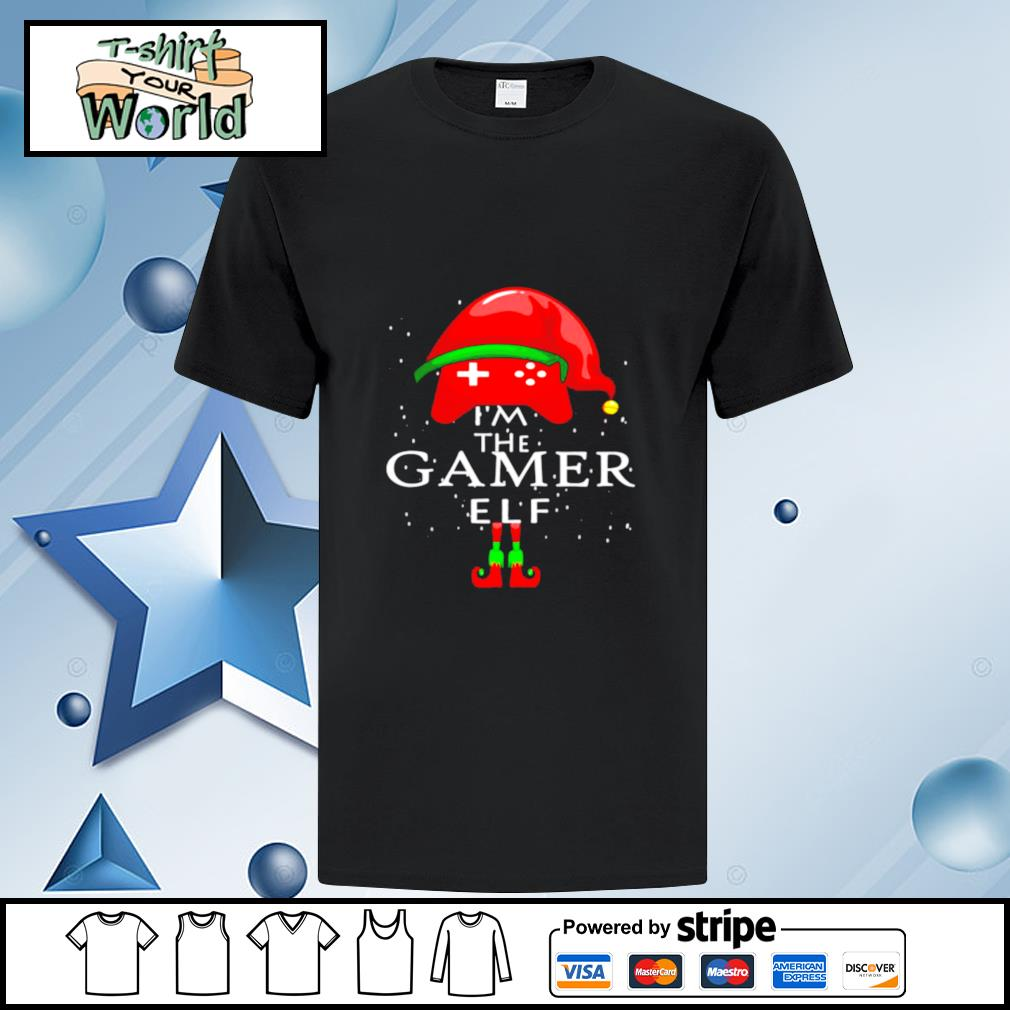 Im A Gamer Elf Matching Family Group Christmas shirt