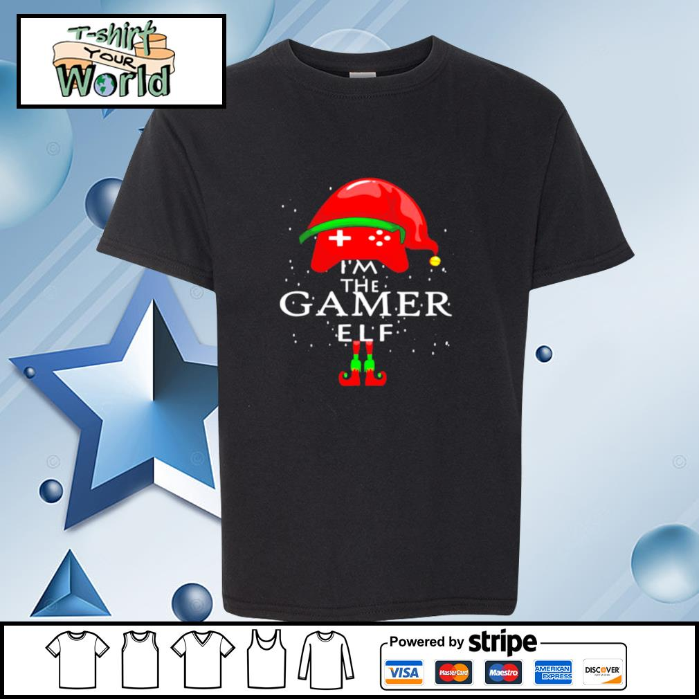 Im A Gamer Elf Matching Family Group Christmas s youth-tee