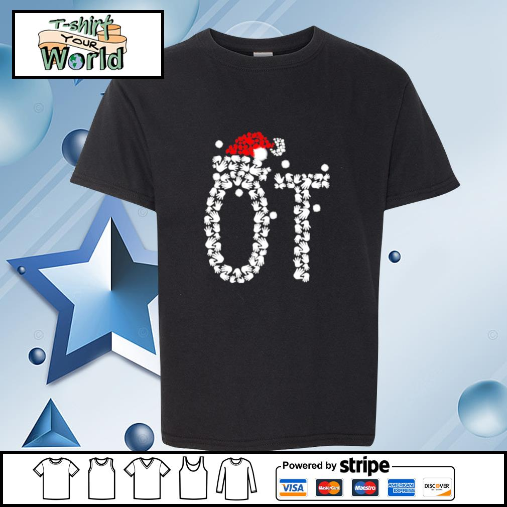 Occupational Therapist Santa Hat Christmas s youth-tee