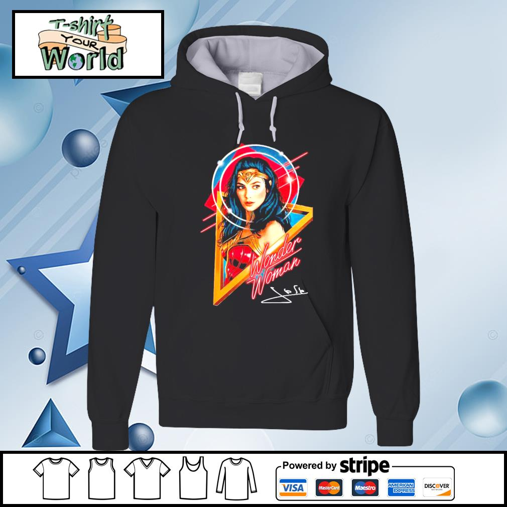 Official Wonder woman signature s hoodie
