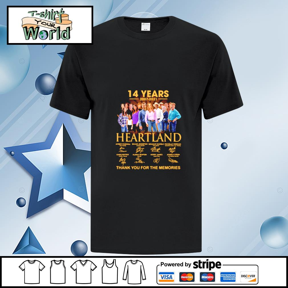 14 years 2007-2021 Heartland signature thank you for the memories shirt