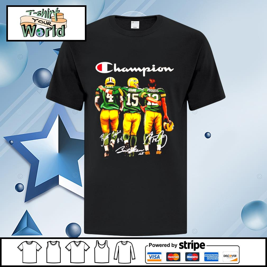 Green Bay Packers champion Favre Starr Rodgers signature shirt